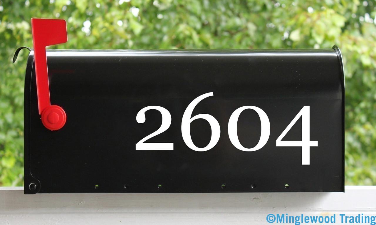 2 Sets of Custom Mailbox Numbers - Vinyl Die Cut Decals - 19 Style Choices2 Sets of Custom Mailbox Numbers - Vinyl Die Cut Decals - 19 Style Choices
