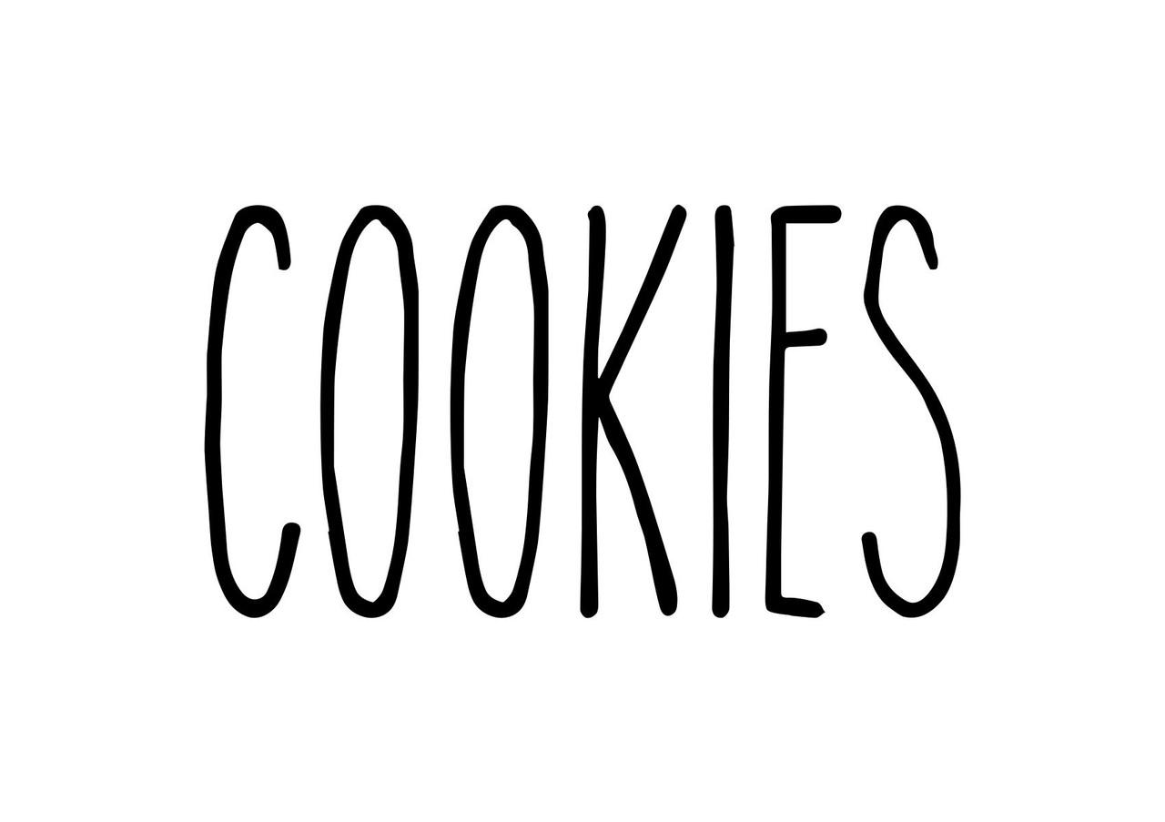 Cookies Vinyl Sticker Farmhouse Skinny Font Rae Dunn Inspired Kitchen Die Cut Decal