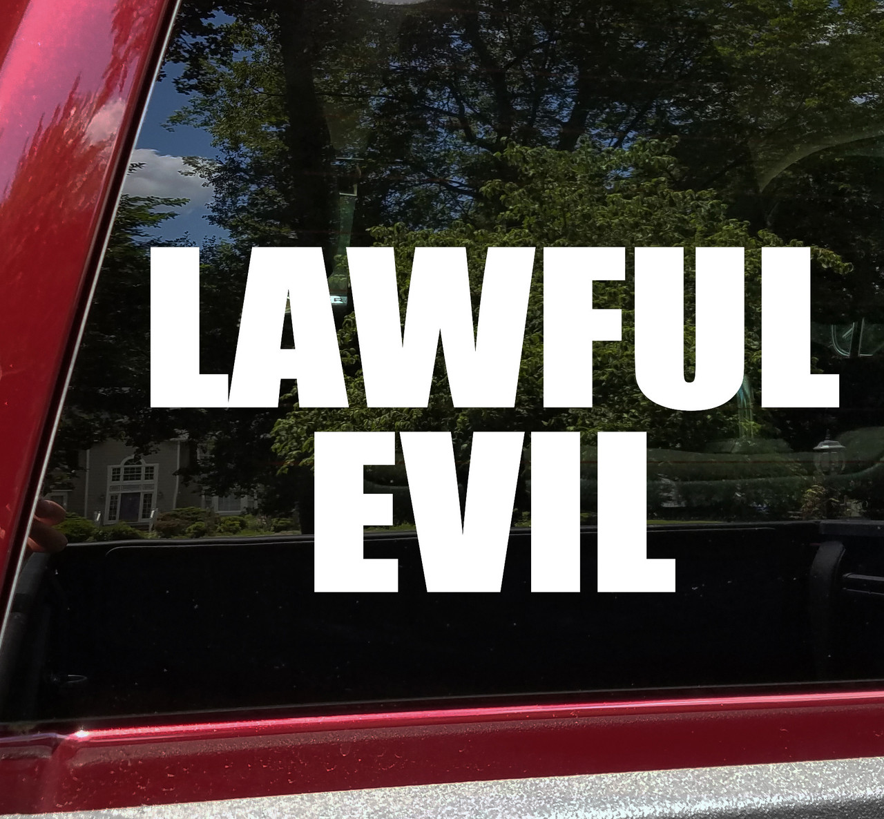 Lawful Evil Vinyl Sticker - RPG Role Playing Character Alignment V2 - Die Cut Decal