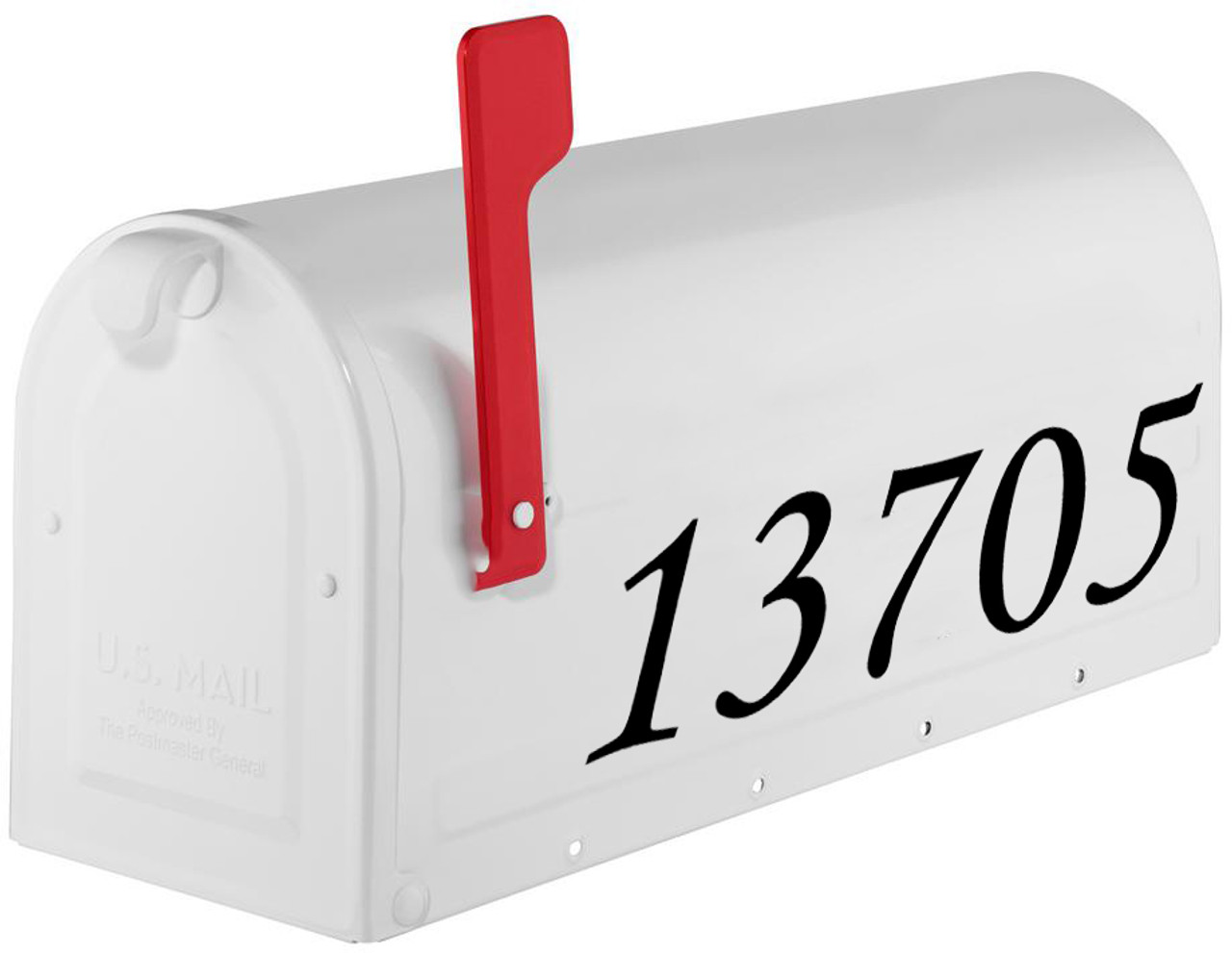 Italic Mailbox Numbers - Vinyl Sticker - 1 to 8 inches tall - Custom Personalized Name Home House Office Address - MC