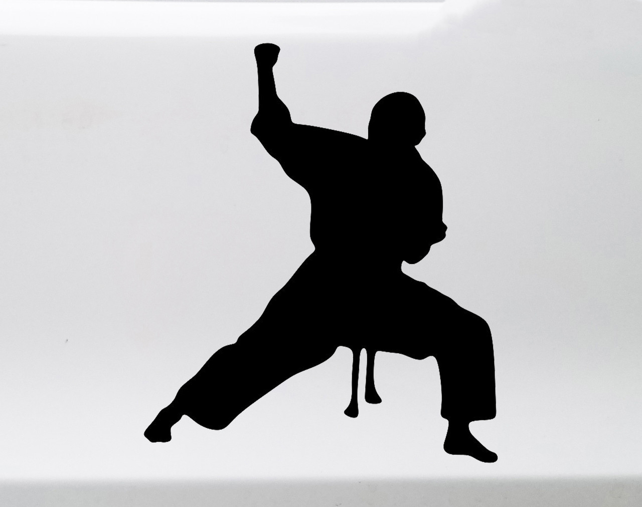 Karate Boy Vinyl Decal V2 - Man Judo Taekwondo Martial Arts - Die Cut Sticker