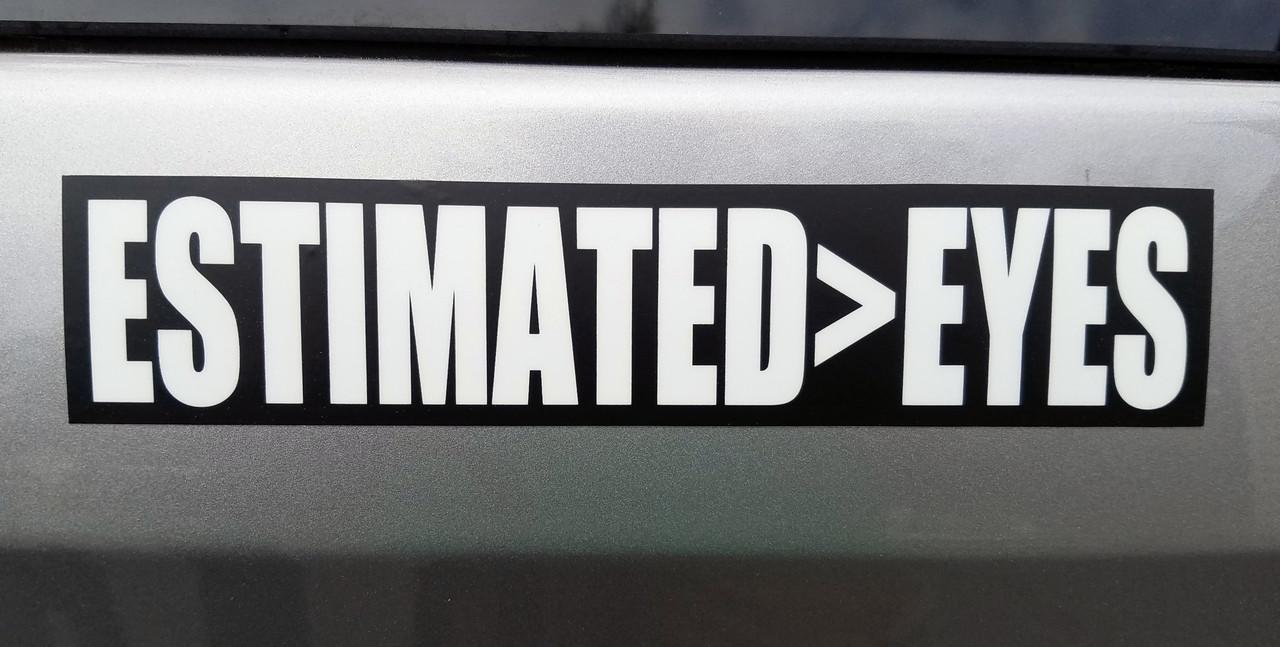 "Set of 2 ESTIMATED>EYES 7"" x 1.5"" Die Cut Vinyl Decal Bumper Stickers - Grateful Dead Sticker - Jerry Garcia - Eyes of the World - 2-pack"
