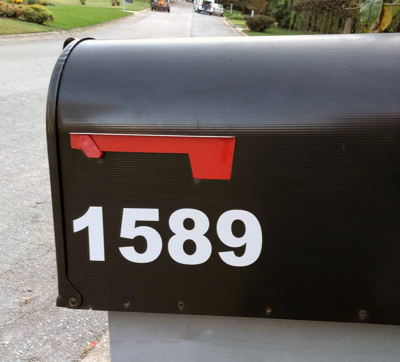 Reflective Mailbox Numbers - Vinyl Decal - House Address Store Office High Visibility - Die Cut