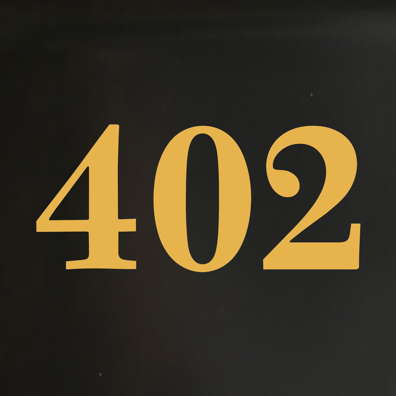 "set of two 2.5"" tall HOA Mailbox Numbers in Gold - Vinyl Decals - Caledonia  - Die Cut Stickers"