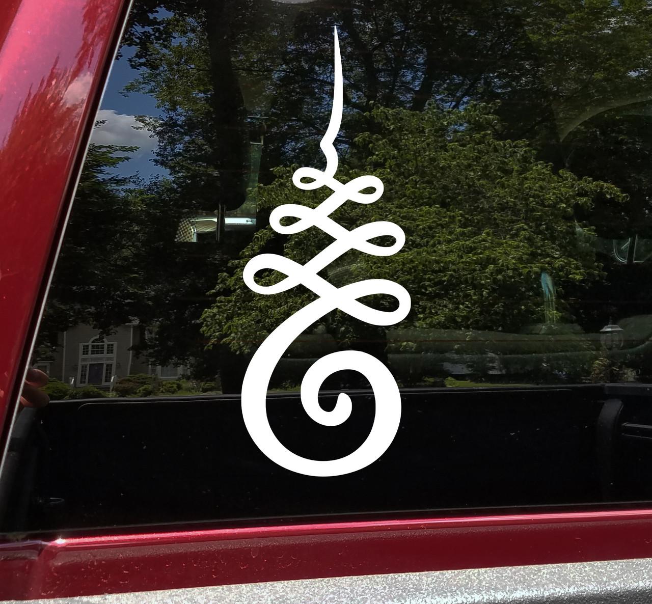Unalome Buddhist Symbol Vinyl Decal - Enlightment Trasncendence - Die Cut Sticker