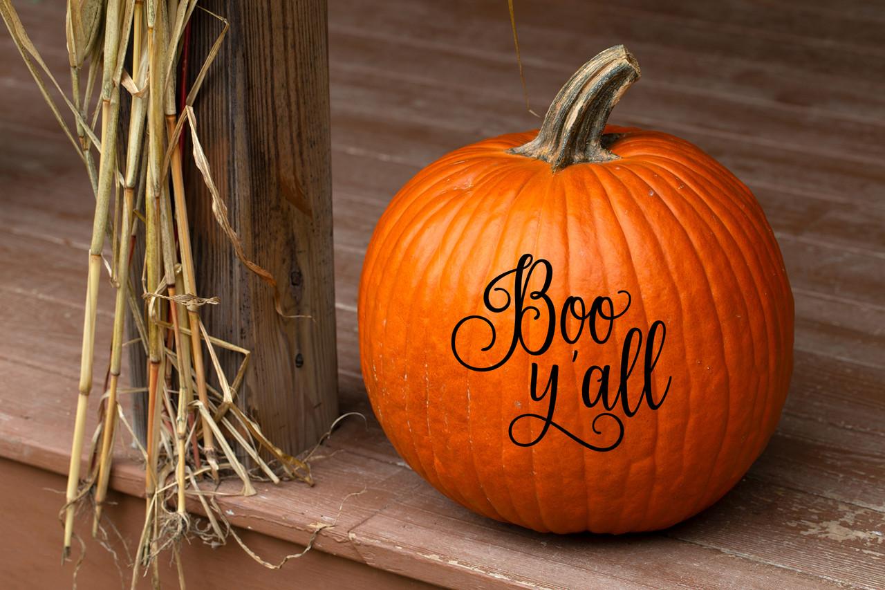Boo Y'all Vinyl Decal - Halloween Decoration - Die Cut Sticker Boo Y'all Vinyl Decal - Halloween Decoration - Die Cut Sticker
