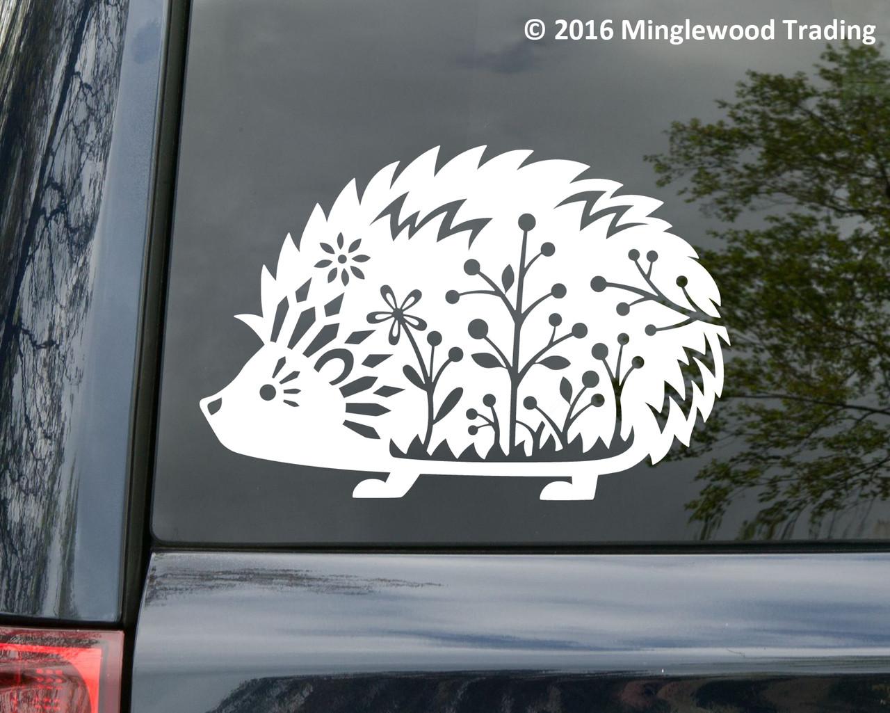 Hedgehog Vinyl Decal Sticker Desert African Pygmy Daurian Sonic 11 X 7 5 Minglewood Trading