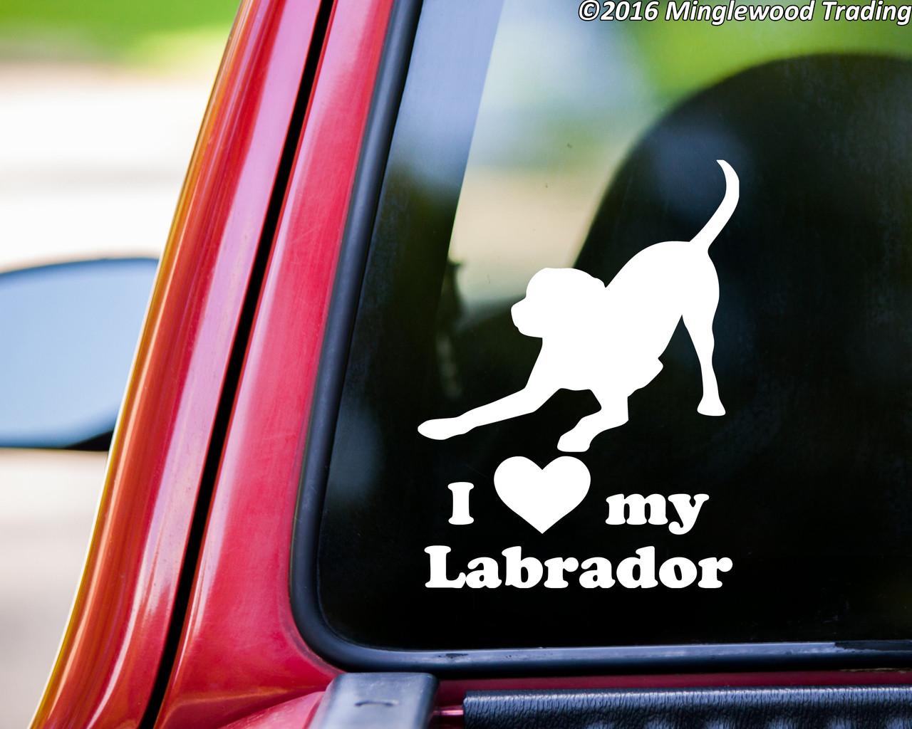 Labrador Mom Heart Paw Decal Lab Dog Dog Lover Gift Dog Decal Window Sticker Dog Pet Lover Labrador Dog Dog Decals Lab Dogs