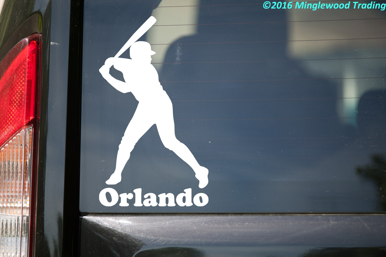 """Baseball Batter vinyl decal sticker with Custom Personalized Name 3.5"""" x 6.5"""""""