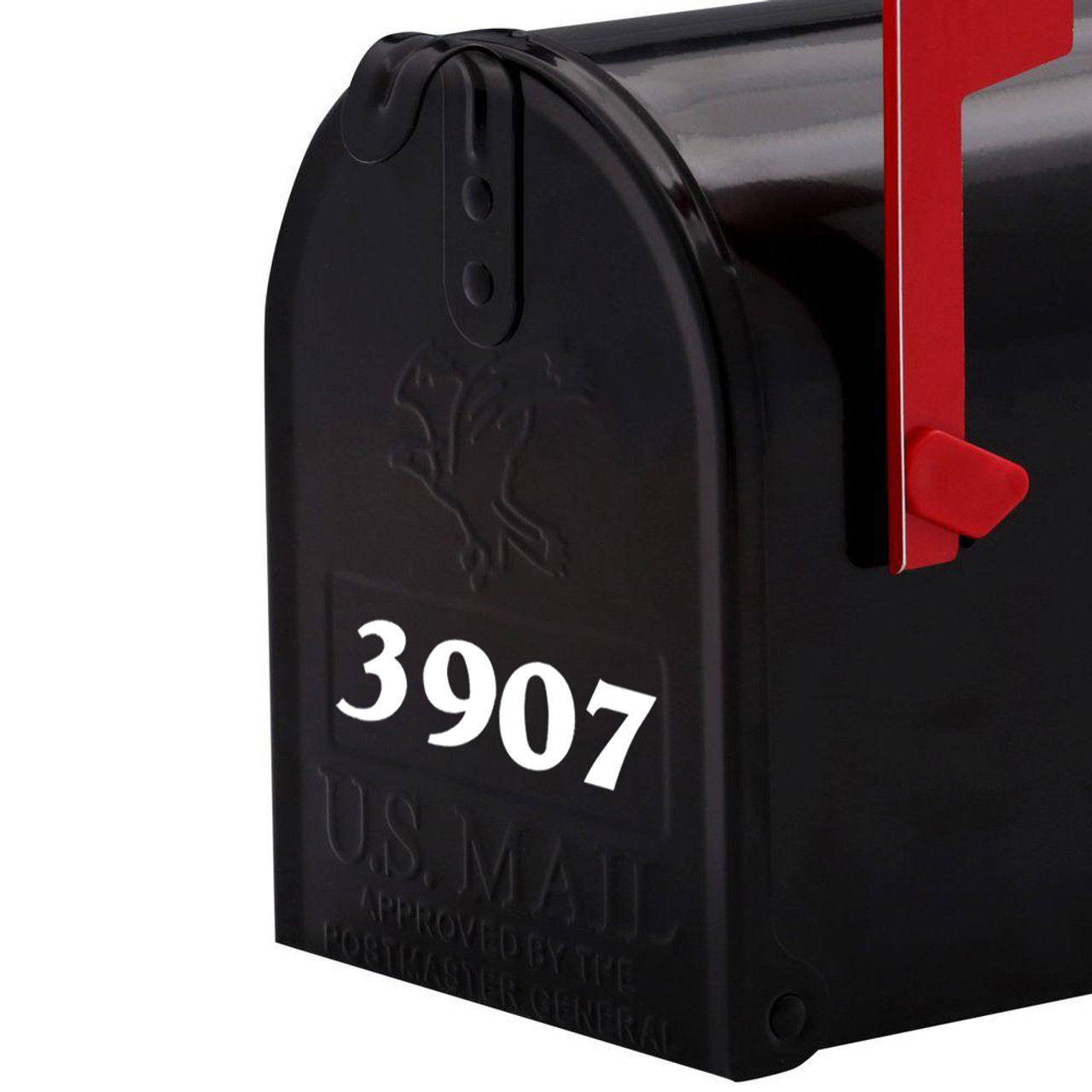 """Custom Mailbox Numbers Vinyl Decal 1"""" tall  - House Lettering Name - Die Cut Sticker"""