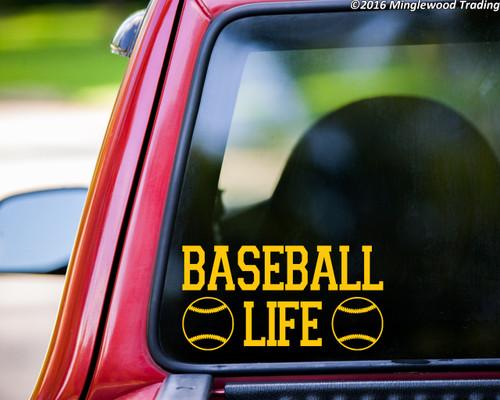 """BASEBALL LIFE Vinyl Decal Sticker 7"""" x 3.5"""" Little League HS"""