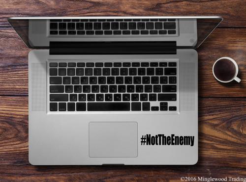 "#NotTheEnemy Vinyl Decal Sticker 4.5"" x 1"" NOT THE ENEMY Journalism Press"