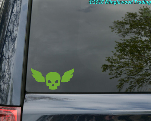 """WINGED SKULL Vinyl Decal Sticker 5"""" x 2.5"""" Military Special Forces Airborne Wings"""