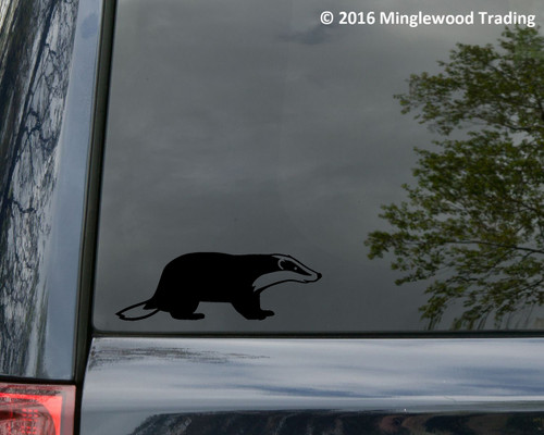 "BADGER Vinyl Decal Sticker 6"" x 2"" Honey Polecat Ferret"