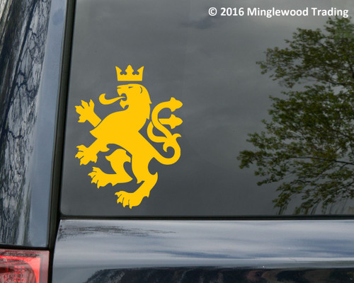 """HERALDIC LION v1 Vinyl Decal Sticker 8"""" x 6"""" Coat of Arms Heraldry Charge"""
