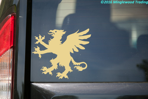 HERALDIC GRIFFIN -V1- Vinyl Sticker - Coat of Arms Heraldry Griffon Gryphon - Die Cut Decal
