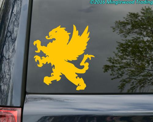 HERALDIC GRIFFIN -V3- Vinyl Sticker - Coat of Arms Heraldry Griffon Gryphon - Die Cut Decal