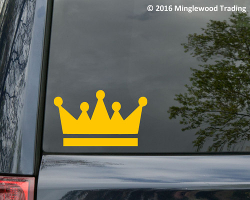 CROWN -V2- Vinyl Sticker - King Heraldry Heraldic Shield - Die Cut Decal