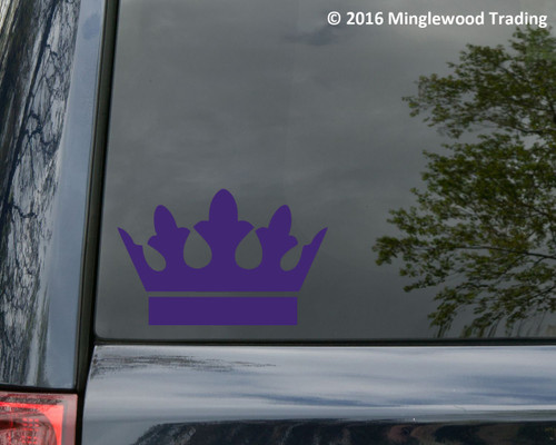 "CROWN Vinyl Decal Sticker 5"" x 3.25"" King Heraldry Family Shield - V3"