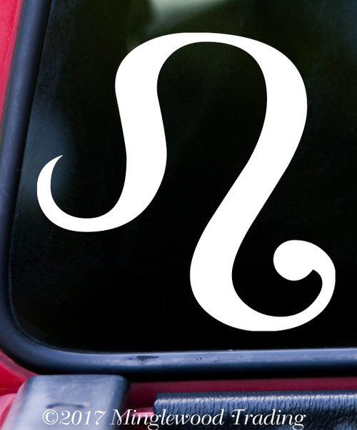 Leo Vinyl Decal - Astrology Zodiac Sign Fire The Lion - Die Cut Sticker