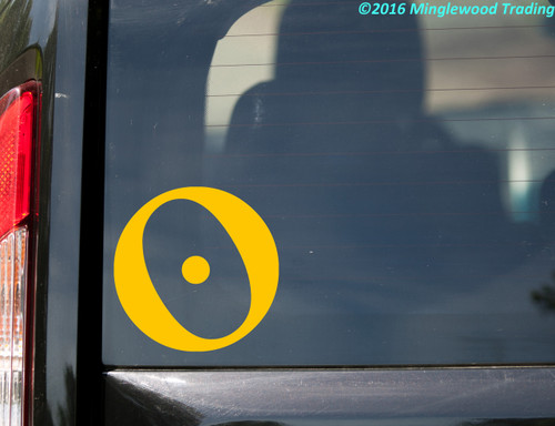 Sun Astrology Sign Vinyl Decal - Zodiac Planetary Glyph - Die Cut Sticker