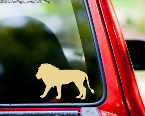 LION Vinyl Sticker Big Cat Africa - Die Cut Decal