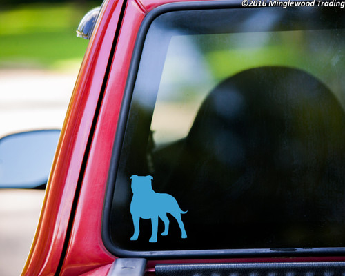 "AMERICAN STAFFORDSHIRE TERRIER Vinyl Decal Sticker 5"" x 4.25"" Pitbull Pit Bull Dog"