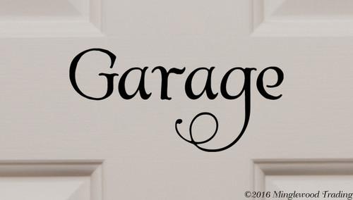 """GARAGE Vinyl Decal Sticker 7"""" x 3.5"""" Door Workshop Motorcycle Car"""