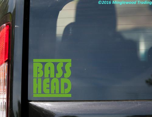Bass Head Vinyl Decal V1 - EDM Music Basshead Headbanger - Die Cut Sticker