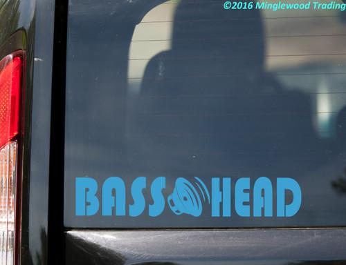 "BASS HEAD v2 Vinyl Decal Sticker 11.5"" x 2"" EDM Music Speaker Basshead Headbanger"
