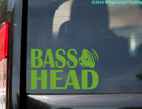 Bass Head Vinyl Decal V3 - EDM Music Speaker Basshead Headbanger - Die Cut Sticker