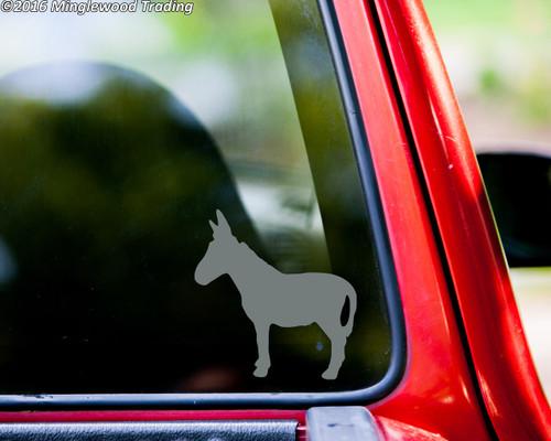 "DONKEY Vinyl Decal Sticker 5"" x 5.25"" Farm Barnyard Animal Jackass Burro Mule"