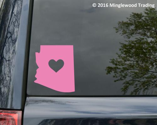 Arizona Heart Vinyl Decal - Home State Love - Die Cut Sticker