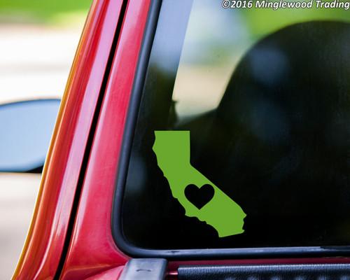 CALIFORNIA HEART Vinyl Sticker - Home State Love CA - Die Cut Decal