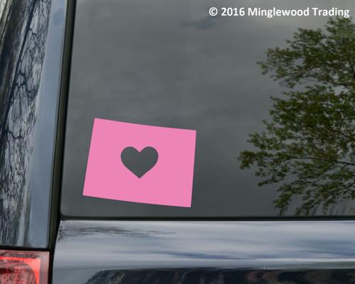 "COLORADO HEART State Vinyl Decal Sticker 6"" x 4.75"" Love CO"