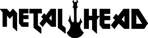 "METAL HEAD Vinyl Decal Sticker 11.5"" x 3"" Hard Heavy Black Death Speed Thrash"