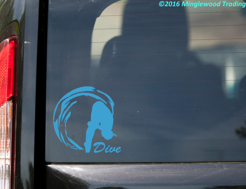 """DIVE Vinyl Decal Sticker 5.5"""" x 5.5"""" Pike Position Diving"""