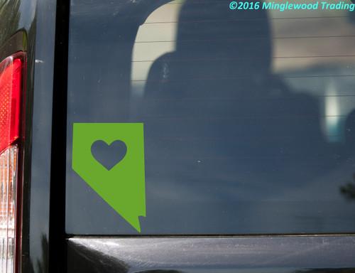 "NEVADA HEART State Vinyl Decal Sticker 6"" x 4"" Love NV"