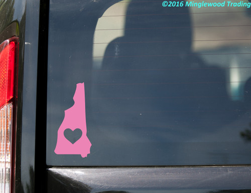 """NEW HAMPSHIRE HEART State Vinyl Decal Sticker 6"""" x 3"""" Love NH"""