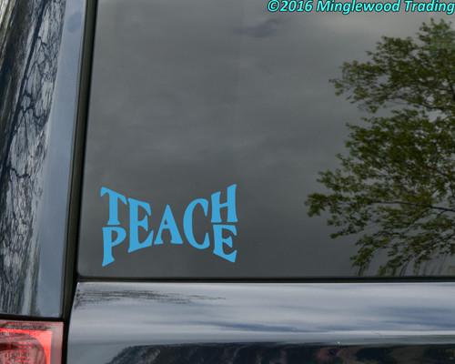TEACH PEACE -  Vinyl Decal Sticker - Love Happiness Gandhi