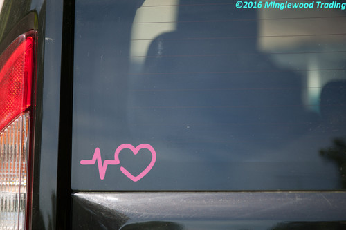 HEARTBEAT EKG HEART Vinyl Decal - Pulse Line Nurse Doctor - Die Cut Sticker