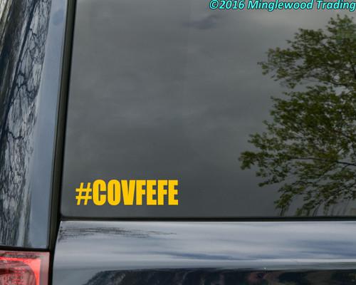 """#COVFEFE 6"""" x 1.5"""" Vinyl Decal Sticker Covfefe - Resist Donald Trump Hashtag"""