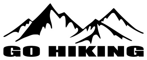 GO HIKING  Vinyl Sticker - Trails Mountains Outdoors   - Die Cut Decal