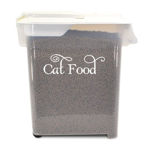 CAT FOOD Vinyl Sticker - Home Organization Label Feline Kitten Treats - Die Cut Decal SWASH