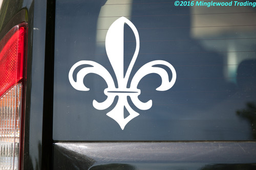 "Fleur De Lis 10"" x 10"" Vinyl Decal Sticker - Flower of the Lily fleur-de-lys"