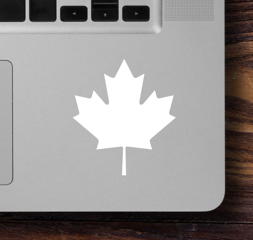 "2x MAPLE LEAF 2.5"" x 2.5"" Vinyl Decal Stickers - Canada Canadian Flag"