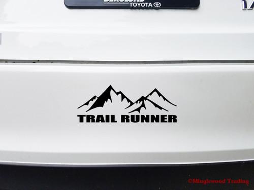 """TRAIL RUNNER 8"""" x 3"""" Vinyl Decal Sticker - Running 5K 10K 13.1 26.2 Marathon"""