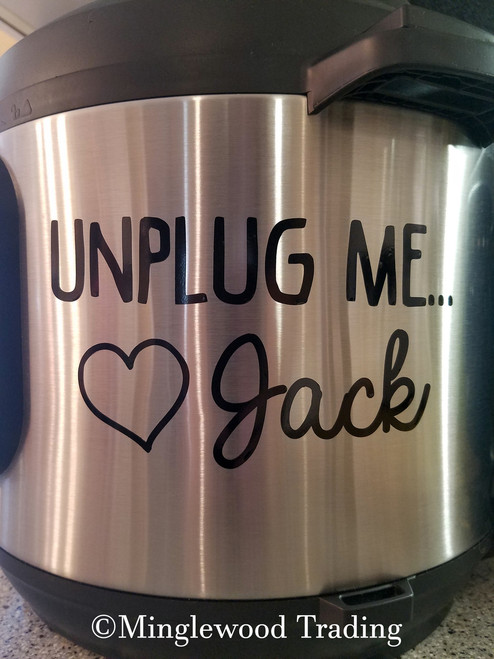 "UNPLUG ME! LOVE JACK 5"" x 2.75"" Vinyl Decal Sticker - This Is Us"
