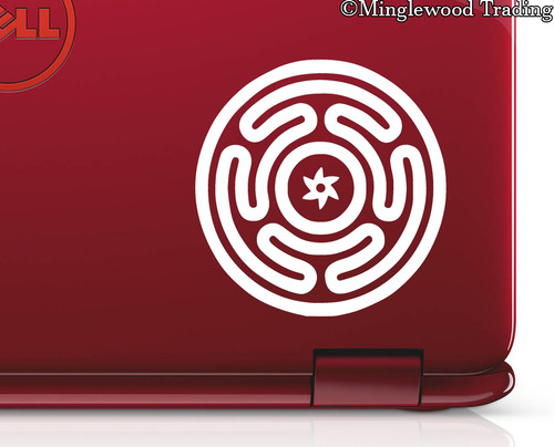 "2x HECATE'S WHEEL 2.5"" Vinyl Decal Stickers - Wiccan Symbol Strophalos Goddess - 20 Color Options"