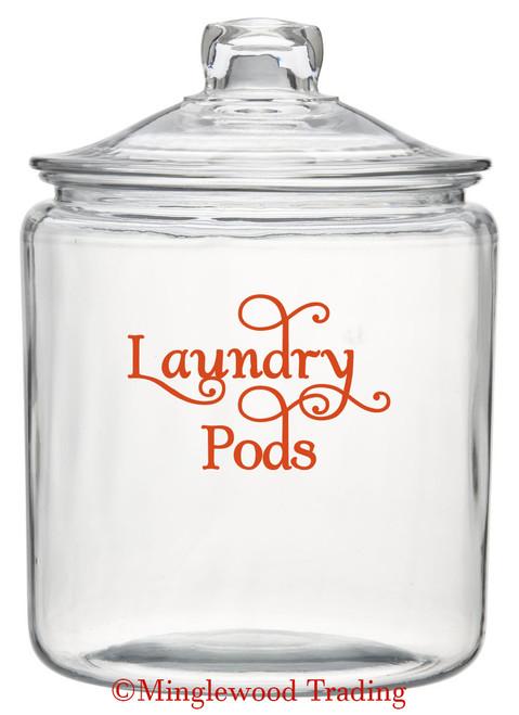 "LAUNDRY PODS  5"" x 3.5"" Vinyl Decal Sticker - Detergent Pod Mud Room Cleaning SWASH"
